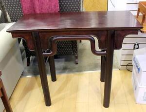 Vintage Rosewood Oriental Altar Table