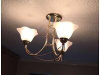 Three Arm Light Fittings x 2