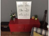 IKEA PS Red Storage Cabinet - great condition