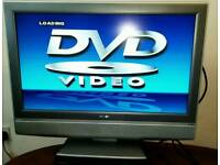 "32"" TV + sky box + universal remote"