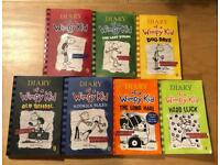 7 Diary of a Wimpy Kid paperback books