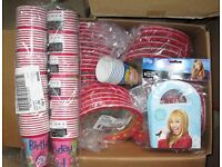 Job lot Party plates and cups bags over 200 items bulk wholesale