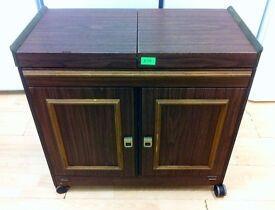 PHILIPS Dark Brown - 2 Door , 2 Shelves , 4 Dishes HOSTESS TROLLEY + Guarantee + FREE LOCAL DELIVERY