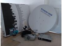 Fortec Star Satellite System FC-90B Dish, Beta receiver, Satellite finder etc
