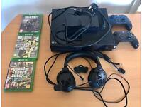 Xbox one with 3 games,2 wireless controllers,turtle beach headphones SOLD