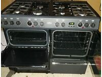 Belling Range Cooker. 100cm. Dual Fuel. 8 LPG Burners with 2 Electric Ovens and Grill. Spotless