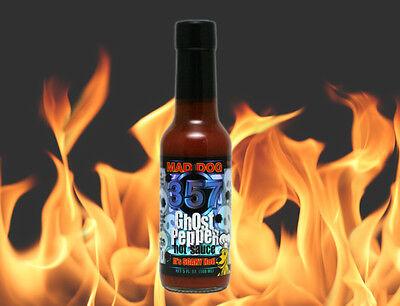 Mad Dog 357 Ghost Pepper Hot Sauce 5 fl. oz. 150,000 Scoville Bhut Jolokia