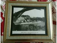 HMS defender passing through the kiel canal june 1969