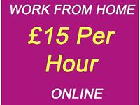 Work From Home - £15 Per Hour - immediate start - * Part time jobs, no experience, Student, Nanny *