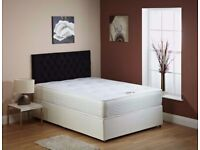 AMAZING OFFER !! DOUBLE DIVAN BED BASE WITH LUXURY 1000 POCKET SPRUNG MATTRESS FAST DELIVERY