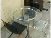 Ikea Glass Top Table & Chairs