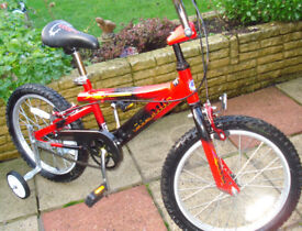 quality child's cycle for sale, with stabilisers if required
