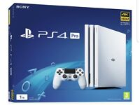 Ps4 Playstation 4 Pro 1tb white