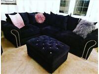 Corner sofa, Chair & Foot stool