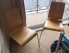 Pair of Ikea Wooden Chairs