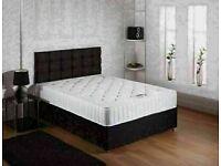 🔵💖🔴SUPER DISCOUNT🔵💖🔴DOUBLE DIVAN BED + DEEP QUILT MATTRESS & HEADBOARD /DRAWERS OPTION