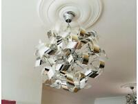 ONE Searchlight Polished Chrome Curls 4 LED Light Ceiling Pendant Ball