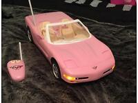 Barbie remote control Corvette