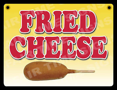 Fried Cheese Sign - Concession Trailerstandrestaurant 12 X 17 Pvc
