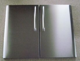 Top Quality Stainless Steel Doors with Matching Handles - Each approx 45cm Wide