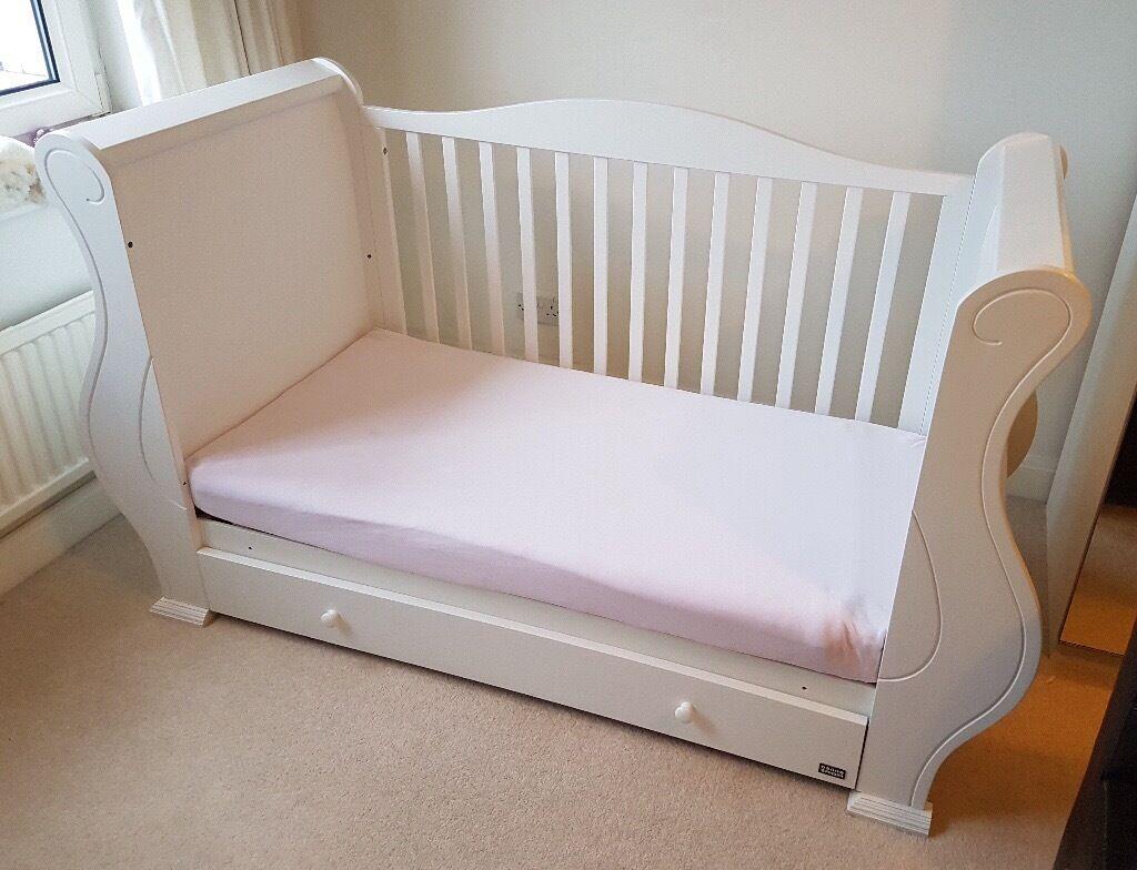 tutti bambini sleigh cot bed