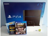 Sony PS4 500GB & CALL OF DUTY WWII £190