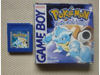 Pokemon blue version - Nintendo Game Boy Game (GB) *BOXED & GENUINE*