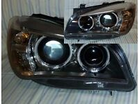 Left hand drive Europe type Bixenon headlights complete BMW X1er 2009-2015 E84 LHD MOT TUV APK ITV