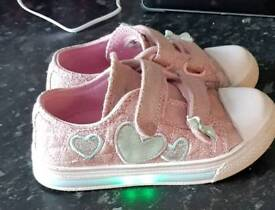 Girls toddler size 9 trainers