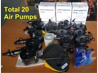 Job Lot of 20 Air Pumps - 2in1 Electric Air Pump Inflator Camping Bed Mattress Pool 240v Mains
