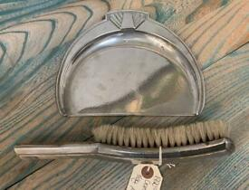 **SOLD** 1920's Art Deco Crumb Tray and Brush