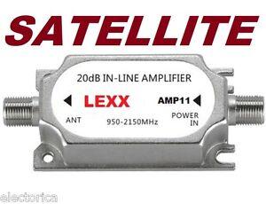SATELLITE-INLINE-AMPLIFIER-SIGNAL-BOOSTER-DISH-NETWORK-ANTENNA-AMP-DIRECTV-FTA