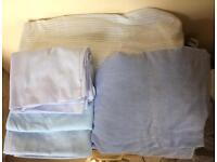 Double duvet, fitted sheet and pillowcases