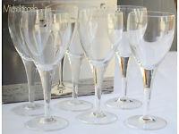 6 x ITALIAN LEAD-FREE, BLOWN GLASS, CRYSTAL MICHELANGELO RED WINE GLASSES BY LUIGI BORMIOLI