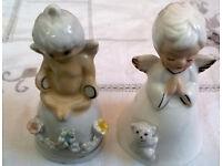 porcelain angel bells