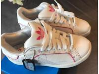 New girls adaidas trainers size 5.5