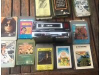 Retro TAIYO 8 Track Car Stereo & Cartridges