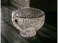 Lead crystal rose bowl