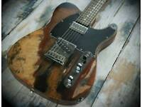 Fender Squier Telecaster relic roadworn custom very rare MII high spec