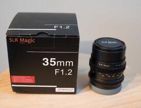 SLR Magic CINE 35mm f1.2 - Sony E Mount Lens, Full frame RRP £539.00
