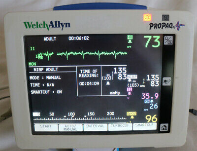 Welch Allyn Propaq 246 Patient Monitor With Temp. Spo2 Ekg Pressure Sensors