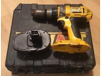 Dewalt 18v Combi drill, case & battery