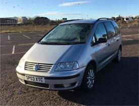 2003 Volkswagen Sharan 1.9 Diesel - 12 Months MOT - New Tyres - Cheap People Carrier