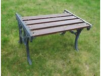 (#591) metal ends garden small table / stool (Pick up only, Dy4 area)