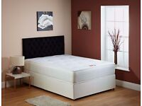 BRAND NEW- Double/Small Double Divan Bed Bases w/ 10inch thick Dual-Sided Full Orthopaedic Mattress