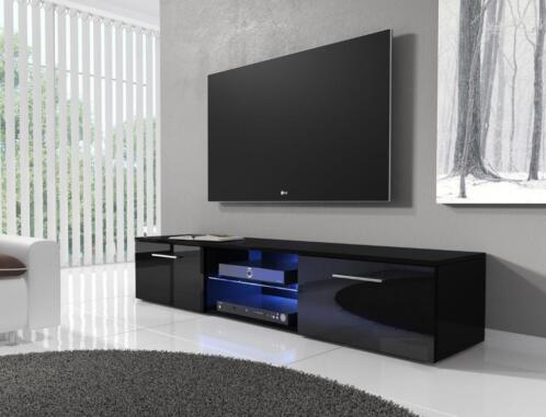 Design Hoogglans Tv Meubel.Tv Meubel Basura Led Wit Of Zwart Hoogglans Tv Kast