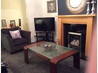 Black Glass & Chrome TV Stand £20