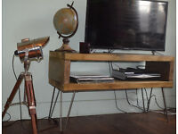 Industrial Console Table Hall Table Tv Unit Mid Century Modern Style hairpin