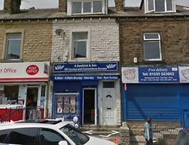 Shop with 2 bedroom flat above in Keighley