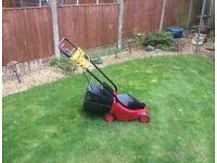 Power Devil electric lawn mower.